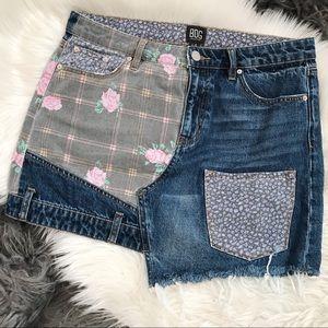 BDG Patchwork Denim Skirt
